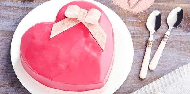 Coeur gourmand aux fruits rouges et biscuits roses de ReimsCoeur gourmand aux fruits rouges et biscuits roses de Reims