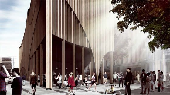 Chenchow Little has entered a proposal as part of an invited design competition for a commercial building in Sydney. #architecture #architecturaldesign #commercialbuilding
