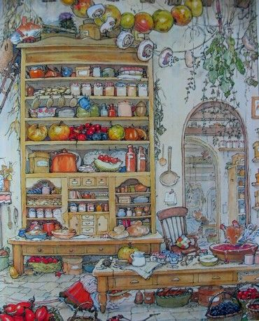 Brambly Hedge The Stump Kitchen Store by Jill Barklem's Autumn Story