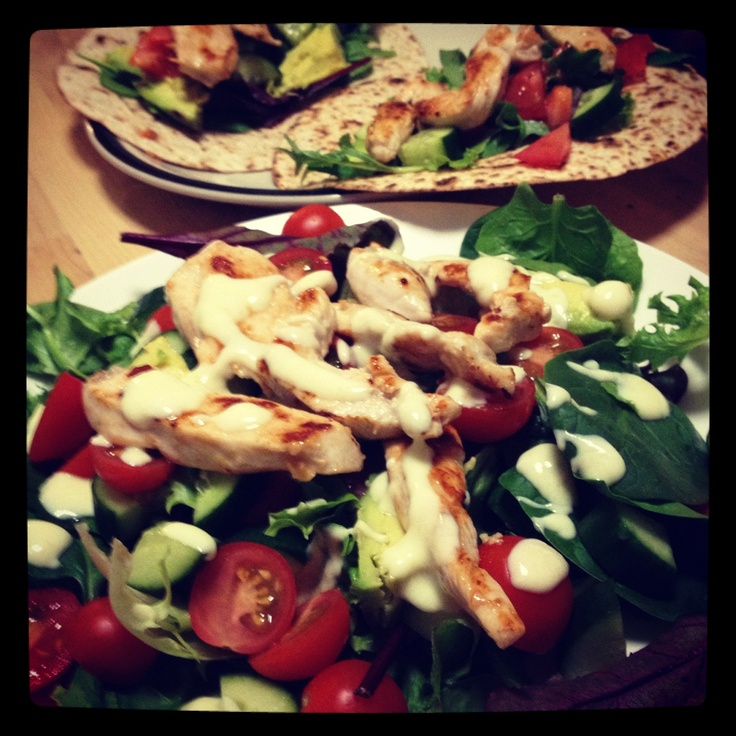 Michelle Bridges Chicken Salad with Herbed Mustard Dressing - very yummy!