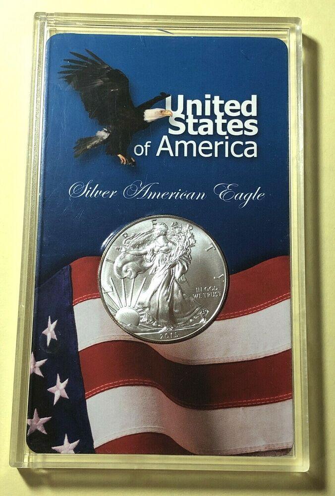2015 1oz Fine Silver Liberty American Eagle Silver Dollar Coin In Display Tt Ebay In 2020 Silver Dollar Silver Dollar Coin Silver Eagle Coins