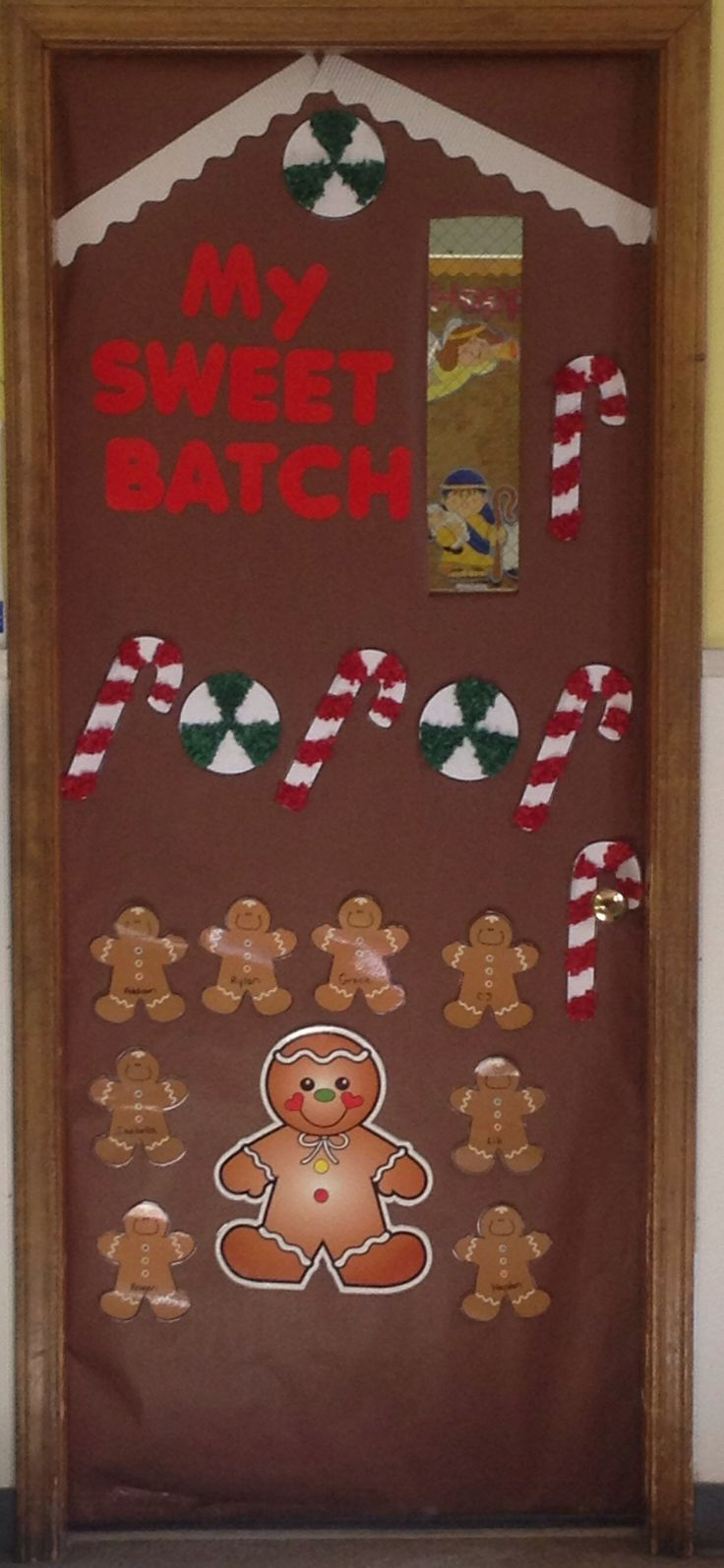 Classroom Decoration Ideas Zip ~ Gingerbread house door bulletin boards pinterest