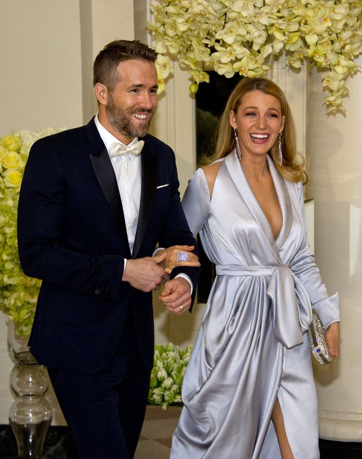 Blake Lively and Ryan Reynolds at the State Dinner at the White House in 2016