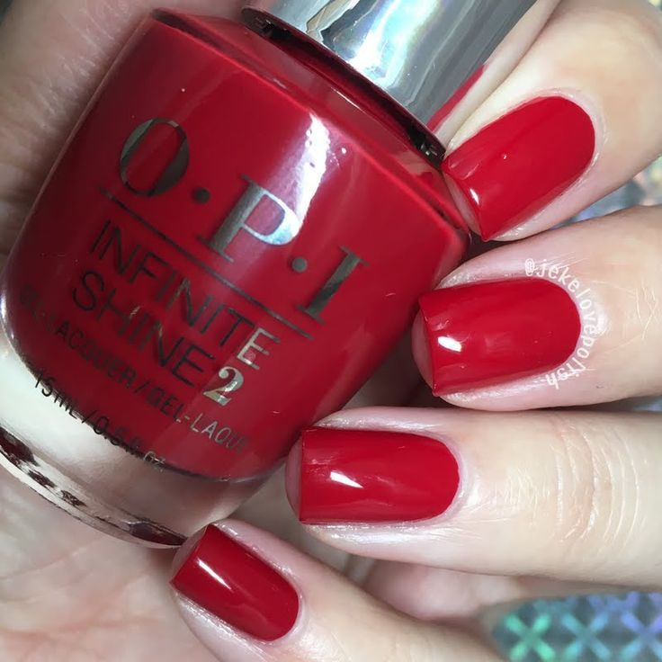 Preen.Me VIP Jesmary treats her nails to this sophisticated manicure using her gifted OPI Infinite Shine 2 Icons Nail Lacquer in Big Apple Red. Explore your #InfiniteOptions by clicking through. Nail Design, Nail Art, Nail Salon, Irvine, Newport Beach