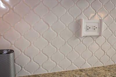 morrocan tileKitchens Reveal, Arabesque Tile, Morrocan Tile Backsplash, White Arabesque, Tile Kitchens, Shower, Home Kitchens, Master Baths, Kids Bath