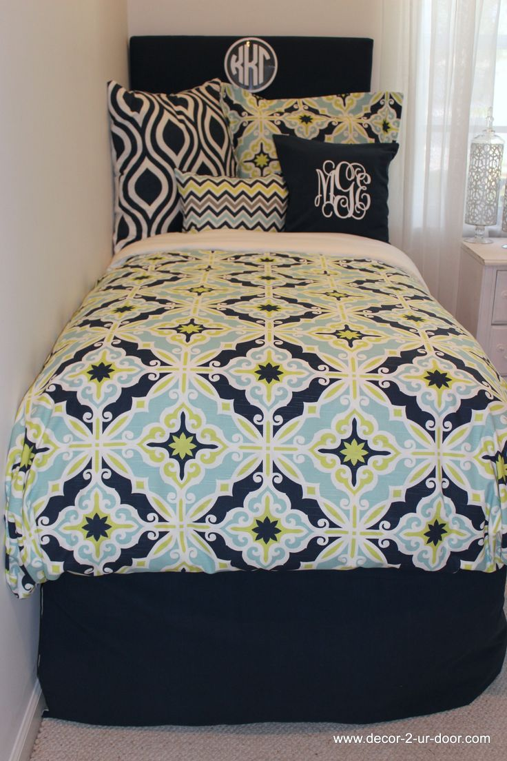 custom dorm room bedding