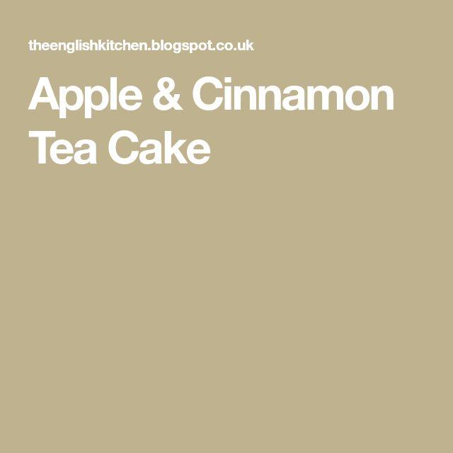 Apple & Cinnamon Tea Cake