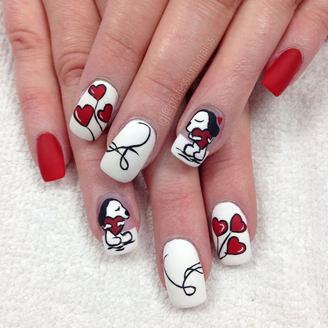 """""""When Snoopy is your Romeo. Everything seems just a little more encouraging #silentsupport #noneedforwords"""" Photo taken by @professionalnailss on Instagram, pinned via the InstaPin iOS App! http://www.instapinapp.com (02/06/2016)"""