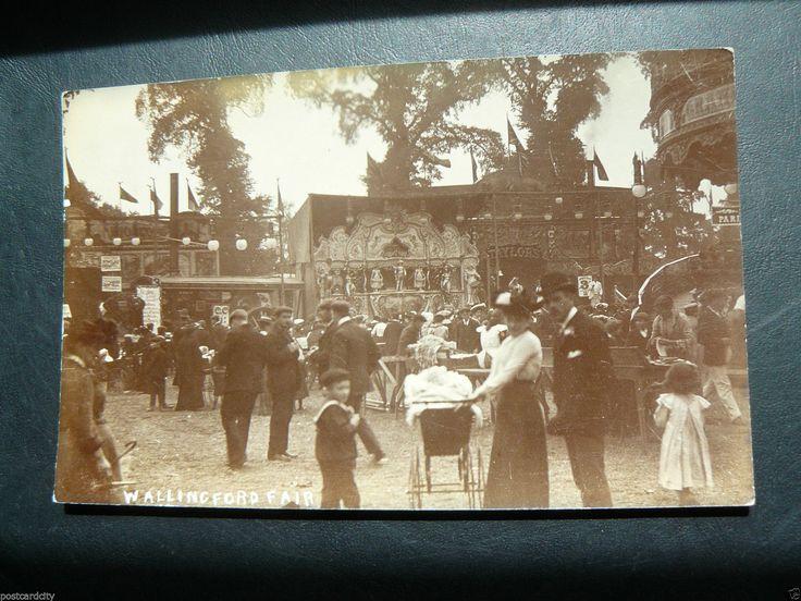 Wallingford Fair Real Photo RP Postcard - 1908 - Oxfordshire - Amusement Park | eBay