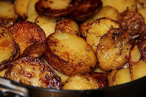 Råstekt potatis med öländska örter