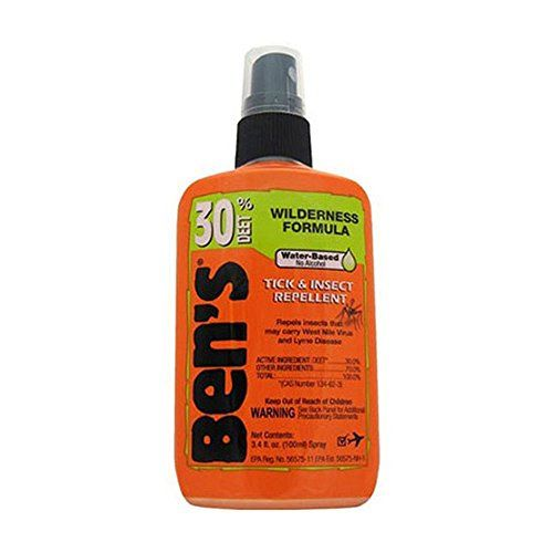 Bens 30 Tick & Insect Repellent. TSA Compliant: The largest bottle available for carry on luggage when your adventures take you out of town. Handy Pump Spray: The most popular delivery system on the market makes it easy to apply. CDC-Recommended Formula: 30% DEET is the minimum % recommended to guard against diseases transmitted by insects. The Best Deet Formula for your Skin: Water-based formula stays on skin's surface rather than being absorbed. Fragrance Free: Smell the great outdoors…