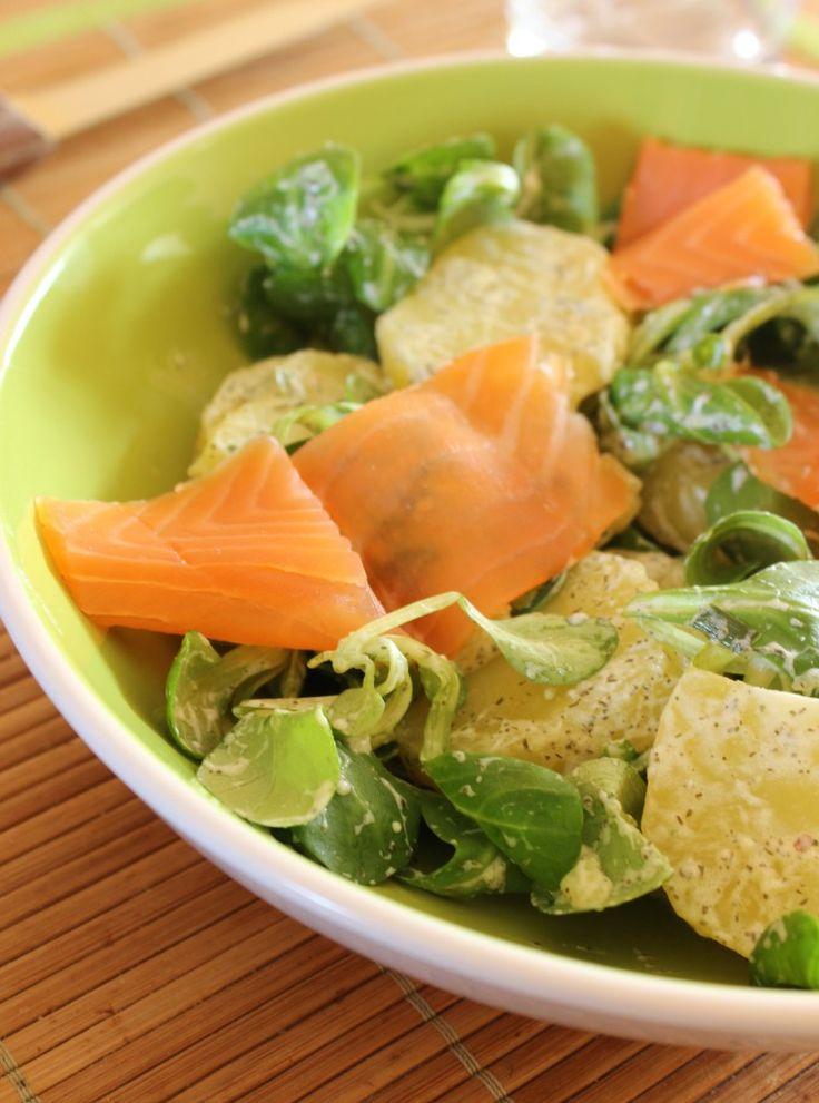 Salade de pommes de terre aneth et truite fumee