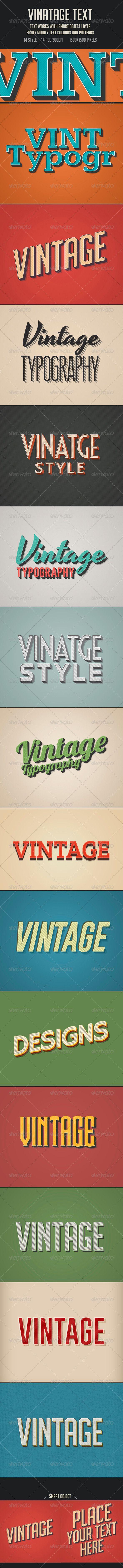 Vintage/Retro Text