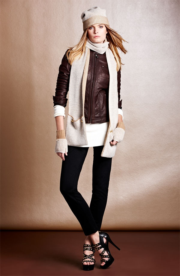 Cool & Cozy: MICHAEL Michael Kors Jacket, Pants & Scarf #Nordstrom #Holiday | Winter Fashion