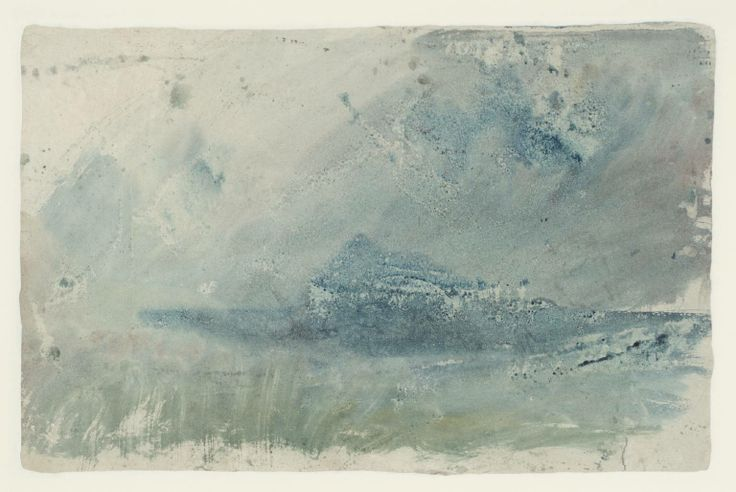 Joseph Mallord William Turner '?Study for 'Eddystone Lighthouse'', c.1817 (Verso)