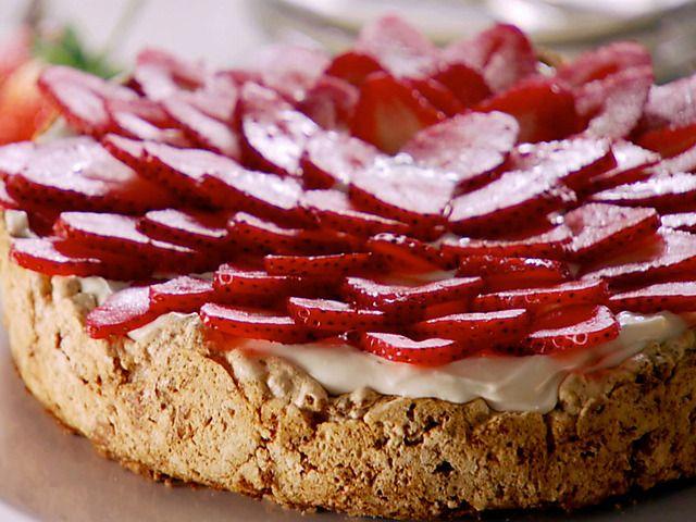 Mostachon Strawberry Meringue Cake (Mostachon) Recipe : Marcela Valladolid : Food Network