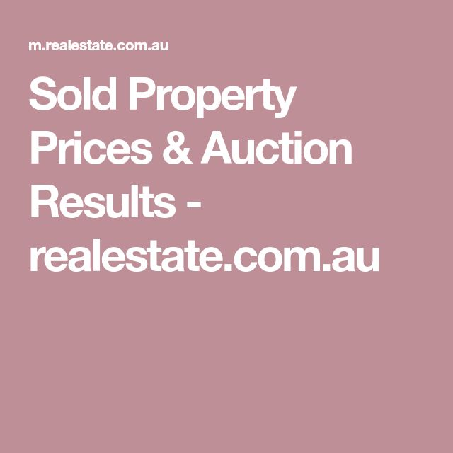 Sold Property Prices & Auction Results - realestate.com.au