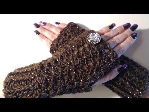 Guanti facili all'uncinetto - tutorial passo a passo - crochet mittens - guantes en crochet - YouTube