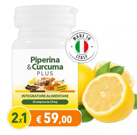 Piperina Curcuma Plus Con Zenzero E Limone Nel 2020 Curcuma Salute E Benessere Cura Del Corpo