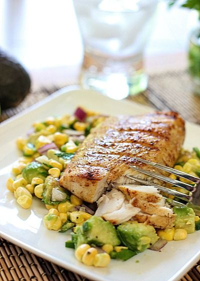 Mahi with Corn Salsa ~ :literally, you could do this with your favorite fish!