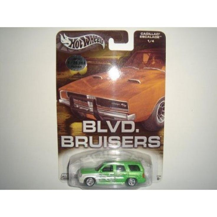 2004 Hot Wheels Affinity Blvd. Bruisers Cadillac Escalade Green #1/4  Features : 1:64 *Limited Edition 1 of 20,000 *Special Wheels & Rubber Tires  Product dimensions : 0.7x7.4x5 inches Product weight : 0.82 pounds