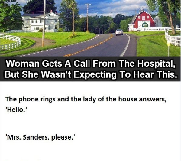 A woman heard something weird and unexpected on a phone call. http://randomlyfunnystufff.com/a-woman-heard-something-weird-and-unexpected-on-a-phone-call-1