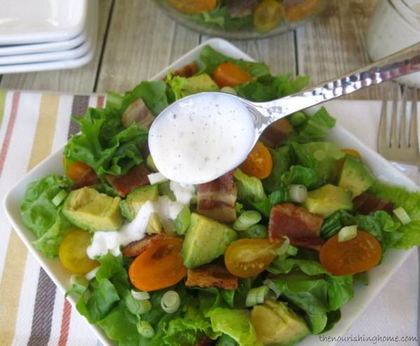 Bacon, Lettuce & Tomato Salad (with Avocado & Ranch) | Recipe | Bacon...