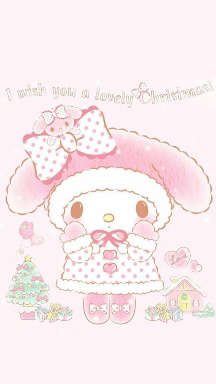 Adorable my melody Christmas wallpaper. | Kawaii Wallpaper~My Melody ...