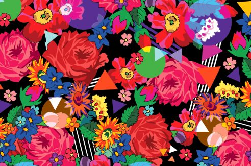 Romani Design Spring - Summer 2017 Wanderers of The Words mix pattern gypsy roma style rose fashion textile rose inspiration hungary budapest