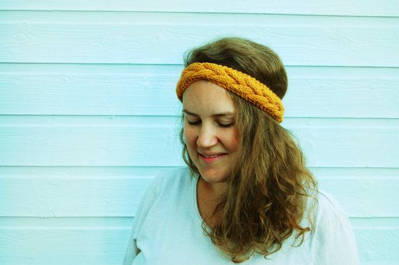 Cable Knit Headband Headwarmer by FindingNorth on Etsy