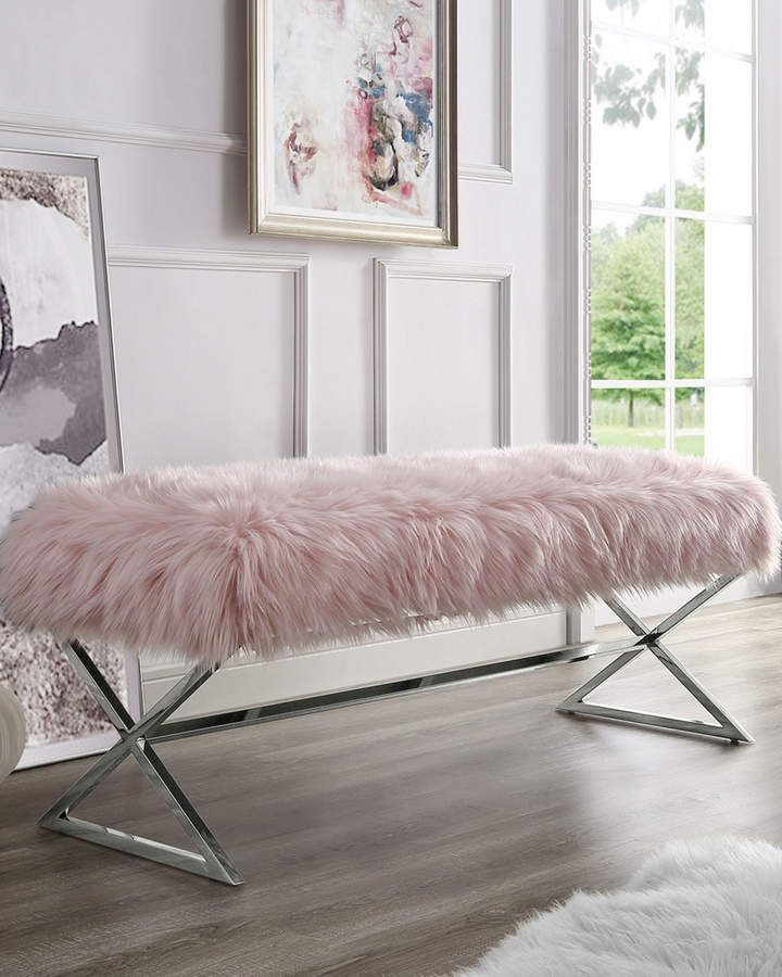 Inspired Home Faux Fur X-Leg Bench | Products in 2019 ...