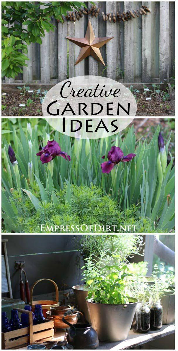 Creative Garden Ideas To Use Throughout The Garden Season   Backyard Home  Tour