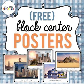 """Block Center """"Can You Build It"""" Posters"""