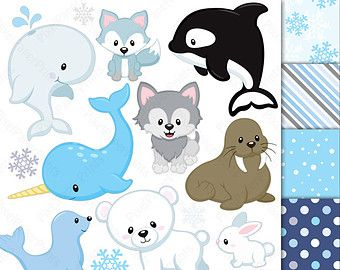 Rainbow Animals Clipart Clip Art and Digital by pixelpaperprints
