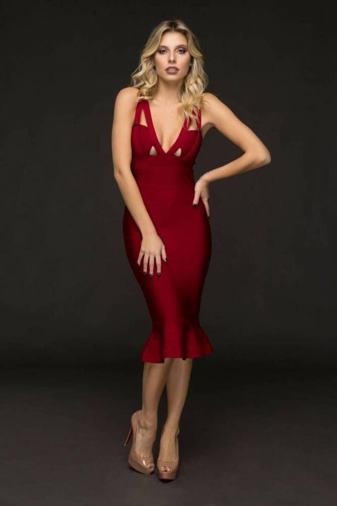 3ffcd3c63 Vestido Bandage Midi Astrid Marsalla | vestido | dress bandage em ...