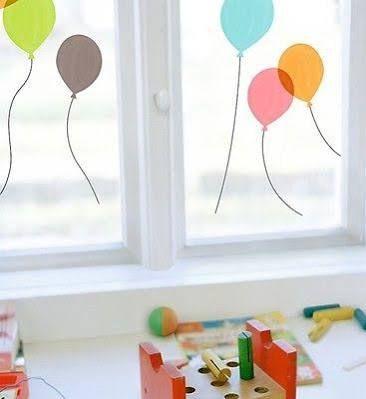 Fenstersticker Luftballons Sticker Aufkleber