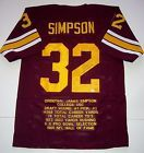 OJ SIMPSON Auto USC Heisman Stat Limited Edition Jersey Signed in Jail Bills