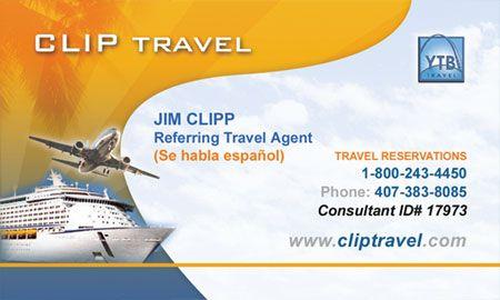 Travel Visiting Card Design