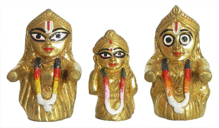 Jagannath, Balaram and Subhadra (Brass)