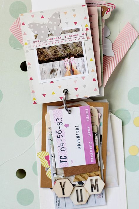 Minimally Made :: Notes & Things Tag Mini Album - Crate Paper