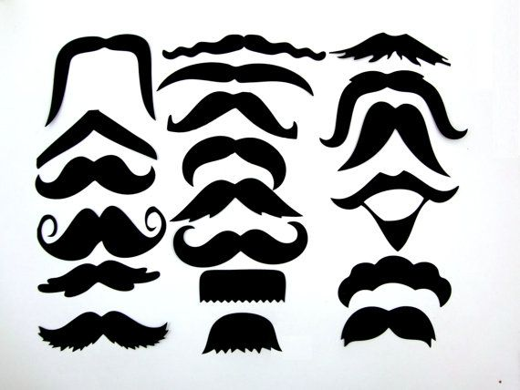 20 Mustache Cut Outs  Die Cuts  Photo Props  Party by PartyHQ, $7.00