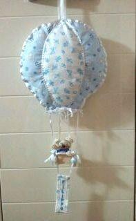La Girandola Creativa: fiocco nascita mongolfiera
