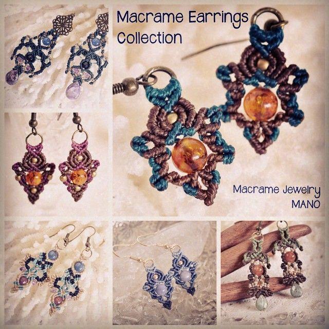マクラメピアスコレクション。 http://mano-macrame.shop-pro.jp/?mode=cate&cbid=1523322&csid=4&sort=n #macrame #Accessories #Earrings