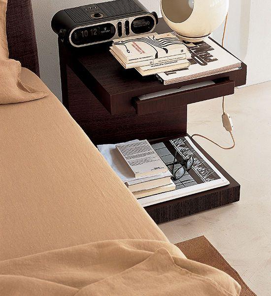 Table de chevet / contemporaine / en bois / avec tiroir AERO  Tisettanta