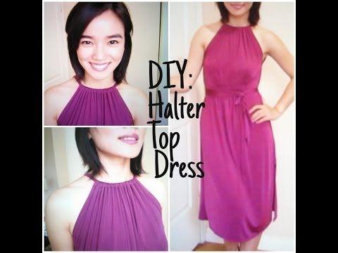 DIY: Halter Top Dress the EASY way!! - YouTube