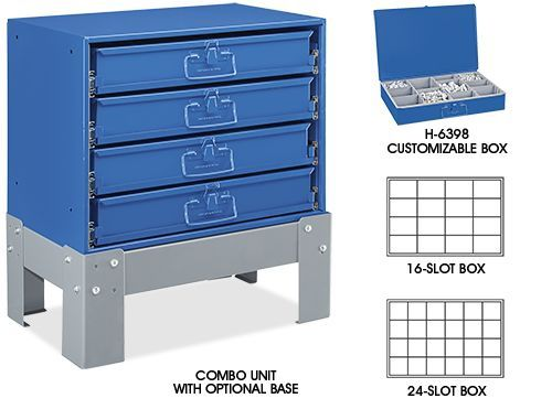 steel compartment boxes in stock uline