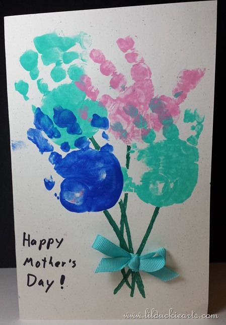 Cute Toddler Mother's Day Card - Hand Bouquet