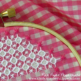Chicken Scratch - gingham embroidery