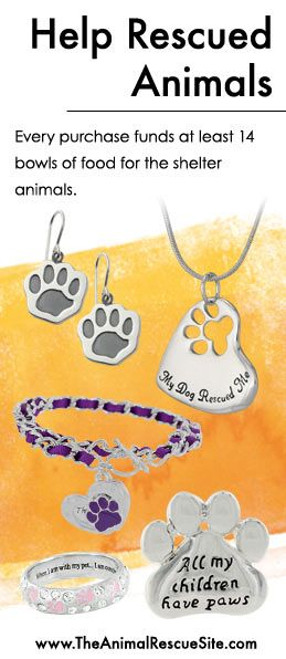 Every purchase at The Animal Rescue Site funds meals for Shelter Animals in need.   Shopping + Helping Animals = Pawsome! Find jewelry & more here: www.shop2give.us/FundPetFood