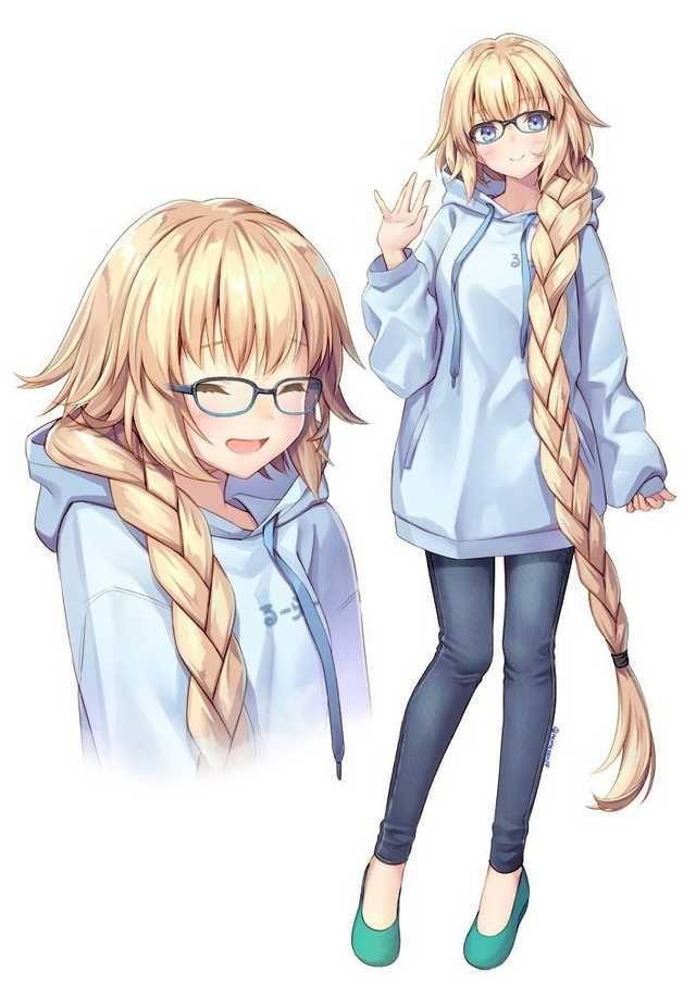 Anime Girl Wearing Oversized Hoodie : anime, wearing, oversized, hoodie, CUTE!!!